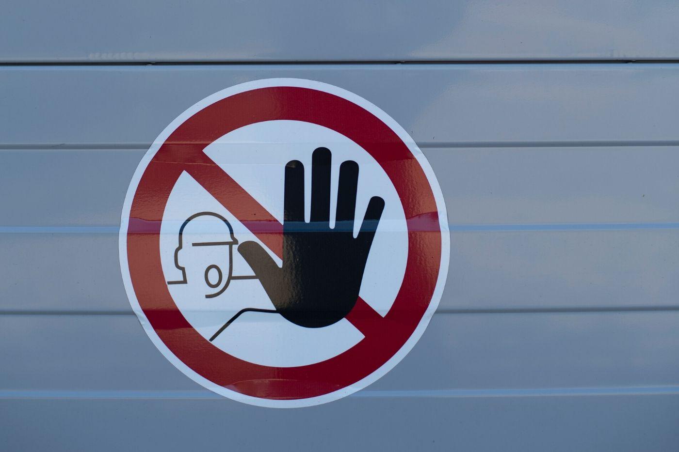 safety warning sign