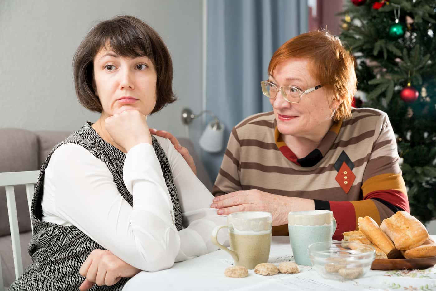 Stressful holidays between a mother and her adult daughter