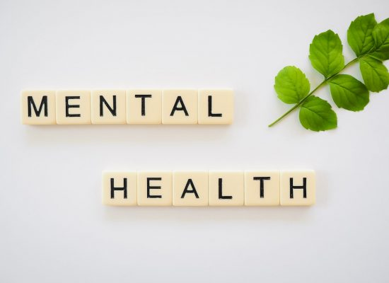 The words Mental Health spelled out in Scrabble tiles