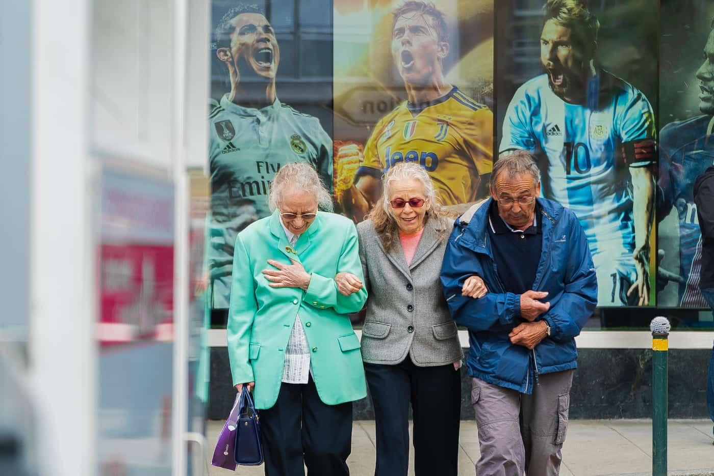 Happy seniors enjoying a post-covid world