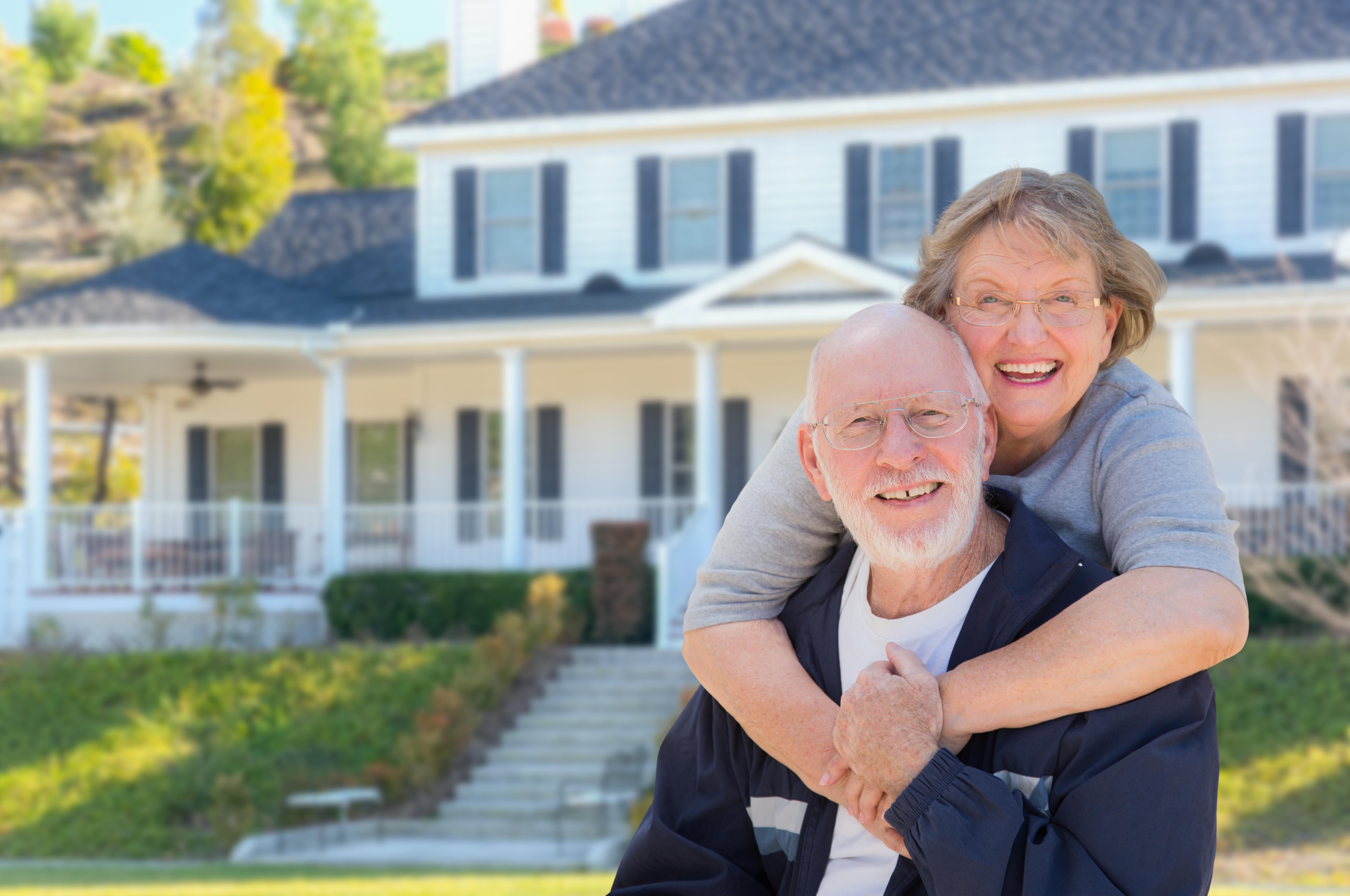 senior couple house image