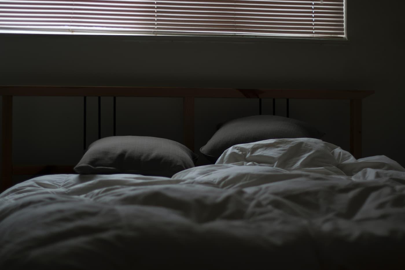 A cool dark bedroom for healthy sleep habits