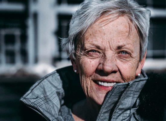 A senior women enjoying her independence